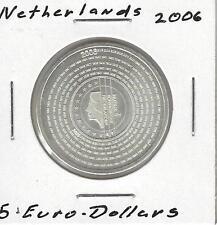 Netherlands 5 Euro, 2006, Proof Like, Silver
