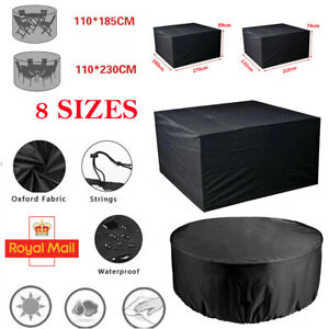 UK Waterproof Garden Patio Furniture Cover Covers Table Sofa Bench Cube Outdoor
