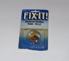 Universal Wood Interior Window Knob 51-4131 Hot Rod Ratrod Custom Old Car  1983