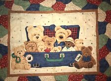 Bears in a Suitcase Crib Quilt Sew Fabric Panel