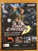 Time Crisis 3 PS2 Playstation 2 2003 Vintage Game Poster Ad Advert Print Art