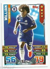 2015 / 2016 EPL Match Attax Base Card (66) William Chelsea Chelsea