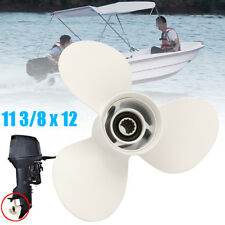 Boat Propeller 11 3/8 X 12 Engines 3 Blade Prop Alloy for Yamaha 40 50 60HP