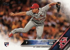2016 Topps Update US258 Seung-Hwan Oh, St. Louis Cardinals RC