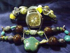 Narmi Oversized Watch with 2 Bands Turquoise & Multi  ****  B118-B161 Box 9