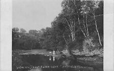 Chatfield Minnesota~Victorian Ladies on Rocks~Trout Run Stream~1908 RPPC