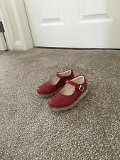 Girls Red Clark shoes size 7.5F
