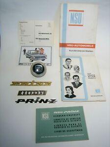 NSU Prinz, Embleme, Betriebsanleitung usw., 1960er Jahre