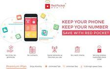 Red Pocket Activ. $15 plan/Sim Veriz/Sprint/Tmob At&T Compatible Great Valu