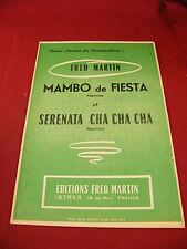 Spartito Mambo fiesta Serenata cha cha cha Fred Martin