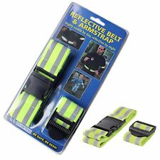 HI VIS REFLECTIVE SAFETY BELT AND ARM STRAP FOR ADULTS KIDS FITS 1SIZE BE SEEN.