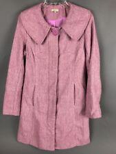 """Wool Blend Pink Long Coat SASHIMI 35"""" long"""