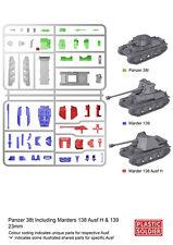 PLASTIC SOLDIER German Panzer 38 T/Marder VARIANTE (1 Tank/3 variantes) 1-Carotte