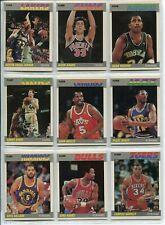1987 1988 Fleer Basketball 127/132 Near Complete Set! Nm/Mt Psa ready! No Jordan