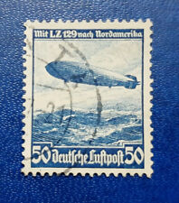 Germany Stamp Deutsches Reich Luftpost 50 Pfennig 1936 Zeppelin Mi. 606 (16718)