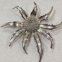 """Vtg 1965 Marcel BOUCHER Brooch #0321 Flower Silver Signed High End 2.5"""""""