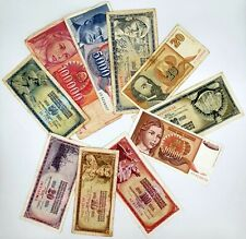 Lot of 10 Yugoslavia Dinara Banknotes Collection Auction From 1$