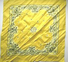 Biker Bandana Hankie Handkerchief YELLOW 100% Cotton 22 x 22 NEW