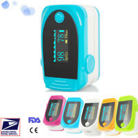 OLED Finger Pulse Oximeter SPO2 PR Monitor Blood Oxygen Meter Lanyard 5 Color CE