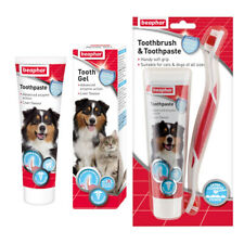 More details for beaphar cat dog puppy toothbrush toothpaste dental care anti plaque bad breath