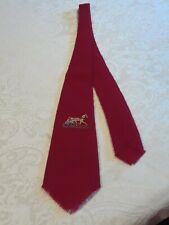 Vintage Tewa Weavers Indian Hand Loomed 100% Wool Red Tie Horse Buggy Racing