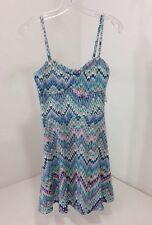 AEROPOSTALE WOMEN'S CASCADE FLARE DRESS MULTICOLOR MEDIUM NWT $50