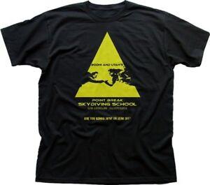 Point Break Skydiving school Bodhi and Utah inspired black t-shirt FN9781