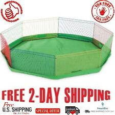 Small Animal Guinea Pig Pet Exercise Cage Portable Playpen Panel Indoor Gerbils