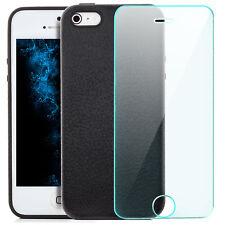 Coque Silicone Apple iPhone SE / 5 / 5S Housse Case anti-choc Gel + Vitre Trempé
