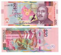 BAHAMAS UNC $20 Dollars Banknote (2018) P-80 Paper Money A Prefix