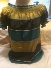 Mossimo Striped Short Sleeve Blouse Small