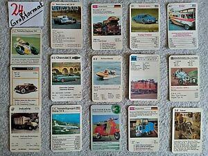 Kartenspiel/Quartett, Einzelkarten Konvolut, nur Großformat -24-