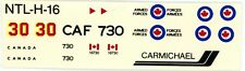 NEW 1:72 SCALE CARMICHAEL MODEL KIT DECAL SHEET CANADIAN AIR FORCE L-19 BIRD DOG
