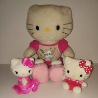 Sanrio Hello Kitty Plush Stuffed Animal Toy Lot Of 3 Japan Build A Bear TY