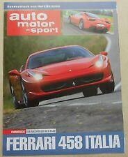 Ferrari Deutschland 458 Italia Sonderdruck no brochure prospekt book buch press