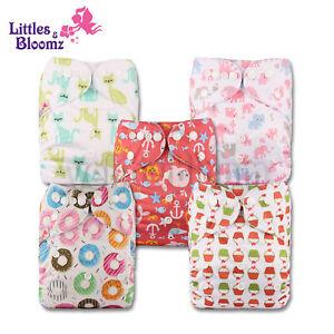 5 Washable Reusable Pocket Standard Cloth NAPPY Diaper