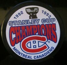 1992-93 Montreal Canadiens Stanley Cup Champions Souvenir Hockey Puck