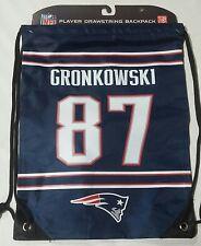 Rob Gronkowski #87 New England Patriots Jersey Back Pack/Sack Drawstring gym Bag