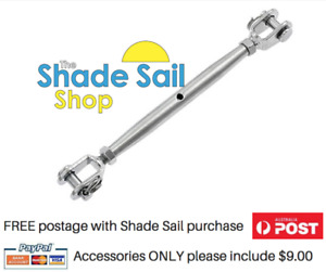 M12  12mm Turnbuckle Rigging Jaw Stainless steel 316 Shade sail Matte Finish