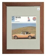 Collectors Classic Car  - Triumph Stag  - 1970 1977   -   Mounted Display