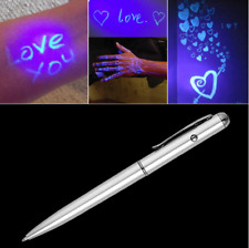 Creative Magic LED UV Light Ballpoint Pen with Invisible Ink Secret For Gifts