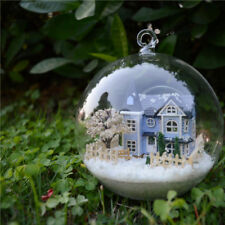 DIY Glass Ball Doll House Kits Handcraft Wooden Miniature Assembling Toy Gift
