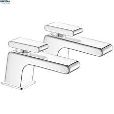 BRISTAN PIV3/4C Pivot Bath Pillar Taps, Lever Handles, Pair, Chrome, PIV 3/4 C