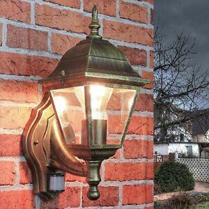 Aussenleuchte Wandlampe in antik mit Bewegungsmelder Sensor Garten Hof Lampen