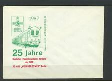 Germany  1987 Unstamped Cover  with Model Railway Association Design
