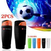Men Soccer Shin Pads Holder Instep Foot Socks Guard Protector Sleeves 2 Layers