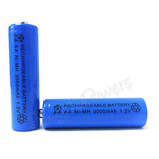 12 pc AA Cell 3000mAh Ni-MH Rechargeable Battery Blue For CD player camera flash