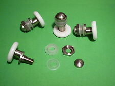 4 x White Shower Door Rollers, Wheels, Runners SR12mm