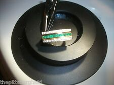 AWESOME ESTATE 1.CT DIAMOND & EMERALD 18K ELEGANT RING APPRAISED $1800 INCLUDED