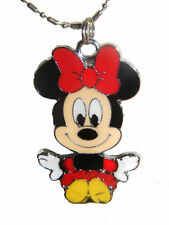 Minnie Mouse mickeys girl pendant  Charm Necklace New